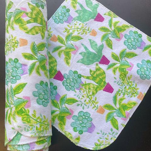 Reusable UnPaper Towels - Green Plants