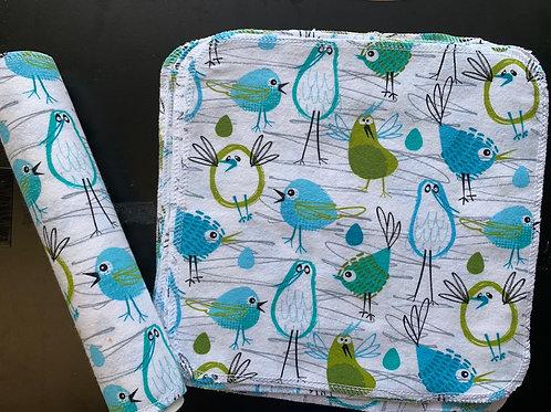 Reusable Unpaper Towels - twitty bird