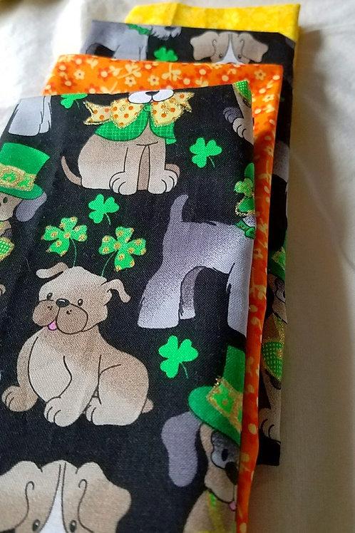 cloth cotton napkins st. patricks puppies