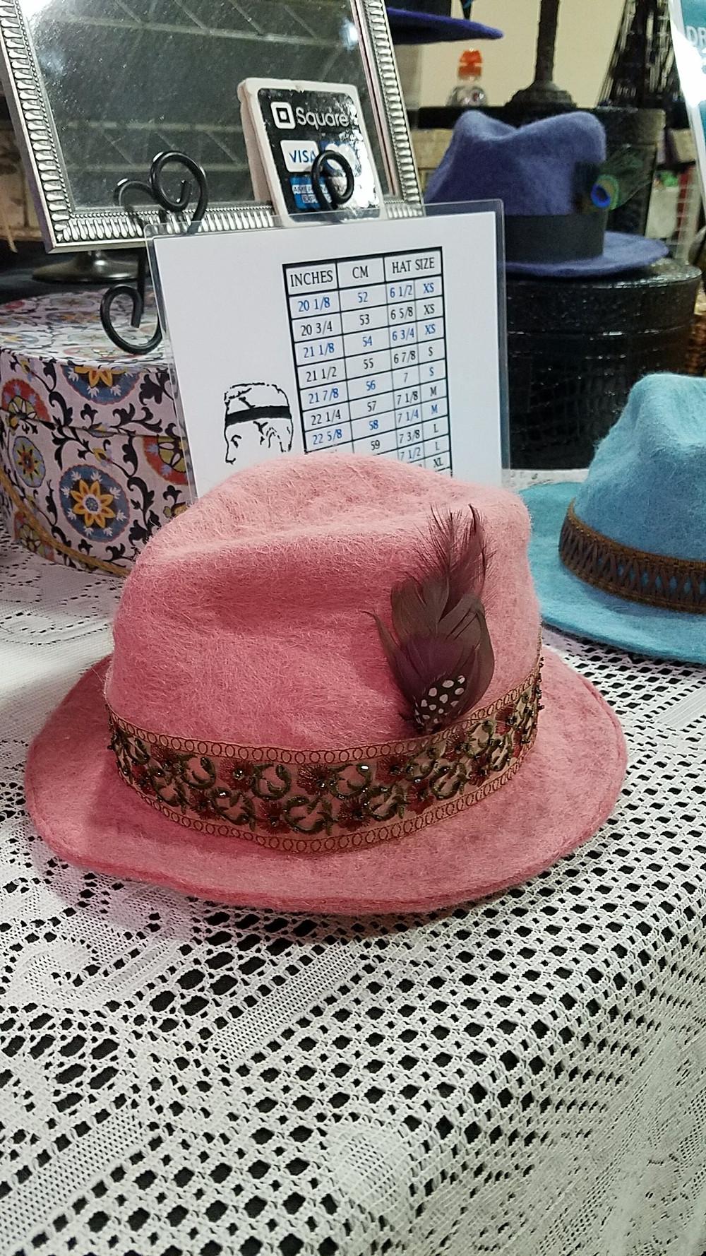 handmade felted alpaca hat