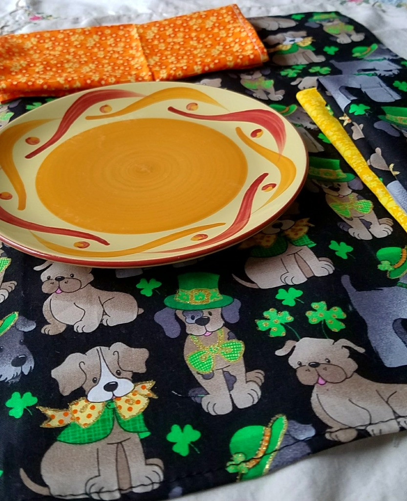 Cloth napkins for St. Patrick's and Spring