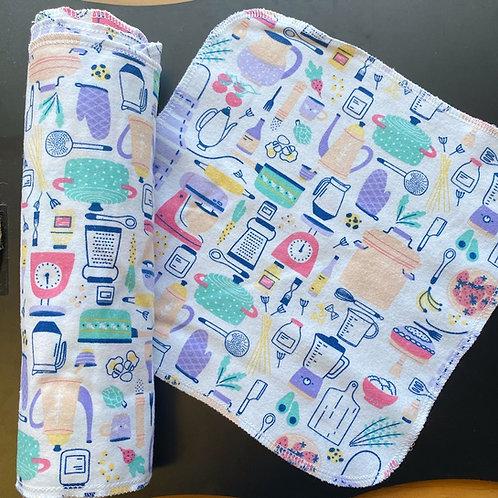 Reusable Unpaper Towels - Retro Kitchen