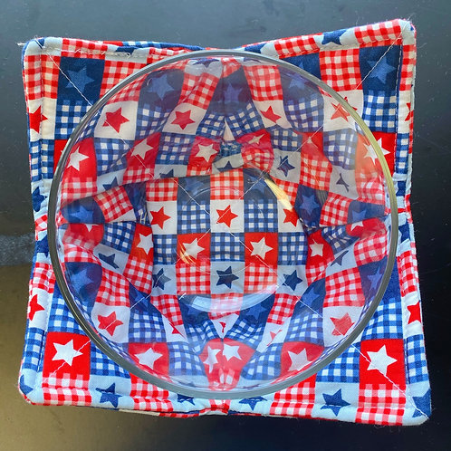 Soup Koozie - Red White & Blue