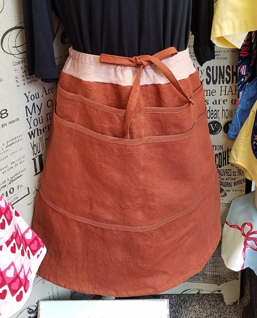pocket skirt in linen