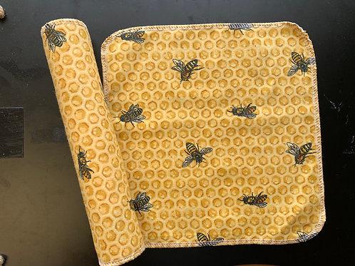Reusable Unpaper Towels - Bees on Honey