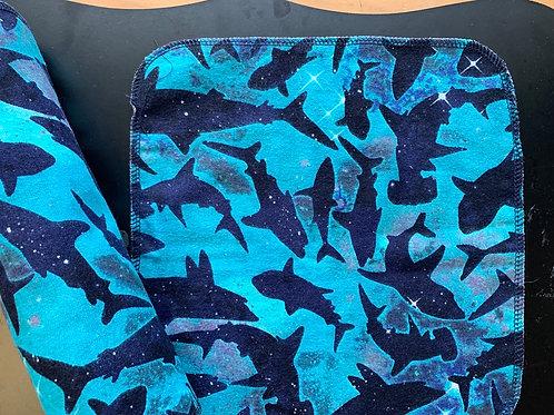 Reusable UnPaper Towels - Sharks