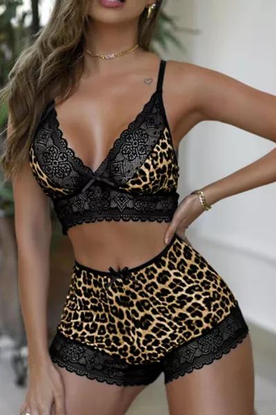 Cheetah Print Cami Set