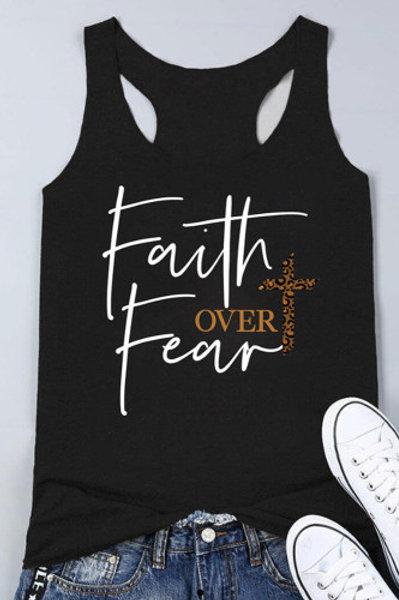 Leopard Faith Over Fear Tank