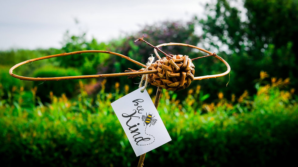 Willow Bee with stick holder