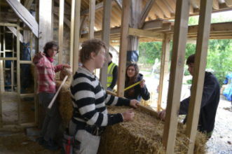 Building straw bale walls