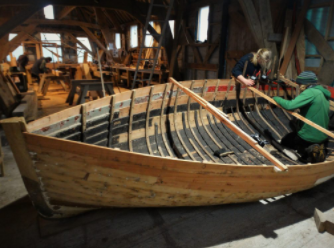 Restoring traditional clinker boats