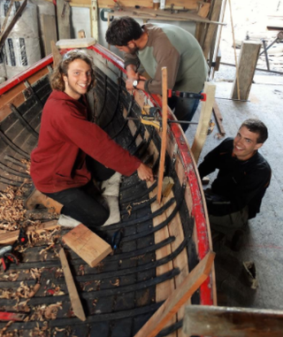 Scarffing new planks on a 150 year old boat