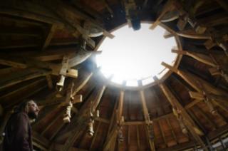 Astronomical Observatory's carved oak roof