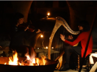 Fiddles, flames & harp