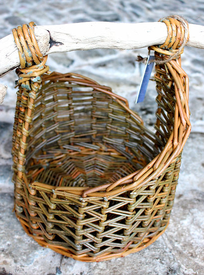 Asymmetric Basket with Driftwood Handle