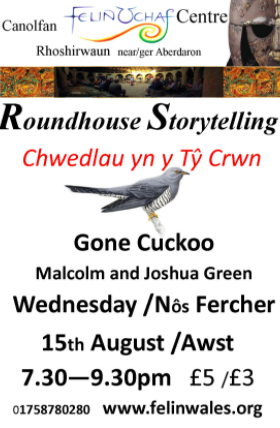 Gone Cuckoo The compelling tale of a bird's journey, its song, its myths and its decline Told by Malcolm Green with Joshua Green (musician) It's shortly after dawn at RAF Fylingdales and a cuckoo is having a transmitter strapped to his back. A few weeks later he will have flown thousands of miles across Europe and over the Sahara Desert to equatorial Africa. For millennia, the cuckoo's call has inspired songs, stories and poems. Does he bring the spring? Tell our fortunes? Was he the shapeshifter that became a hawk? He certainly fools the reed warblers who feed him as a changeling baby. Now the voice of the cuckoo is fading – where has it gone?  'Musicianship and environmental performance-art meet history and myth…an engaging & beautifully constructed tour de force'. Dave Pritchard (Chair, UK Arts & Environment Network, and consultant to the Convention on Migratory Species)  'The performance was precise and compelling … such an exciting, multi-layered adventure.' Linda France (award-winning poet)  'Gone Cuckoo was inspiring and moving… it will fill audiences of all ages with wonder and delight.' Prof. Nick Davies (author of 'Cuckoo, Cheating by Nature')