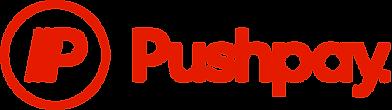 Pushpay logo Red RGB Wordmark Horizontal