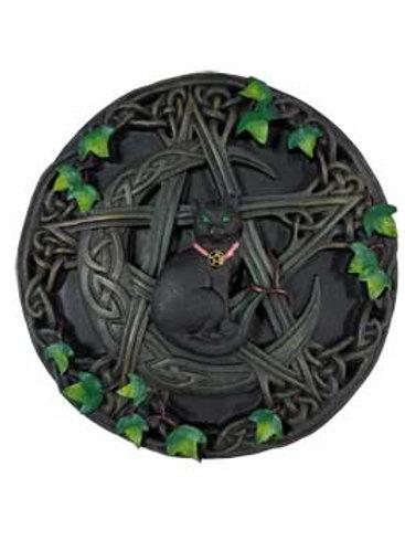 Black Cat & Pentagram Wall Plaque