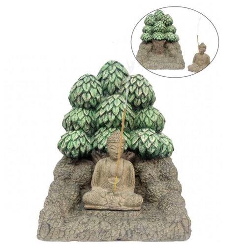 Meditating Buddha Incense Holder & Altar Combo