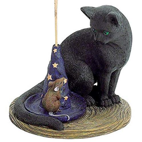 Magical Black Cat & Mouse Vertical Incense Burner