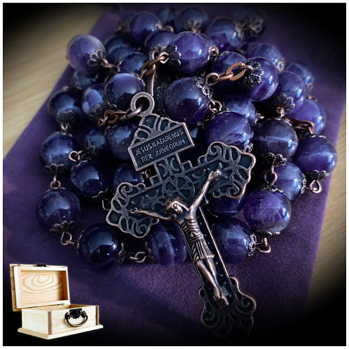 Crystal Rosary Beads (Hand-Made)