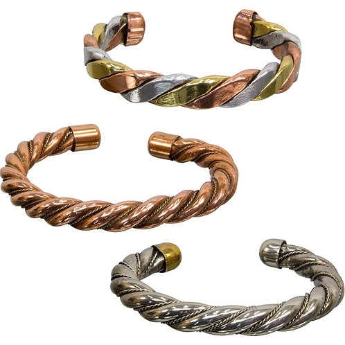 Twisted Copper Tibetan Bracelets (Set)
