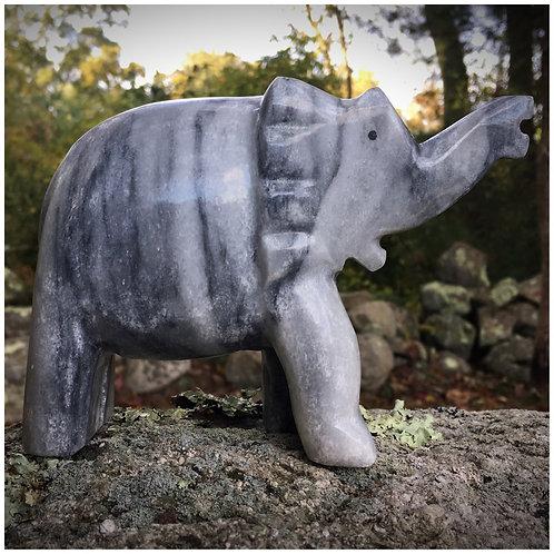 Zebra Marble Elephant Statue
