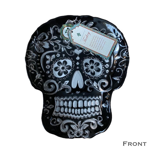 Day of the Dead Skull Glass Plate (Sm)