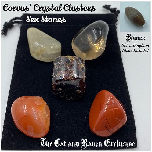 Corvus' Crystal Clusters: Sex Stones