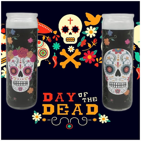 Day of the Dead Glass Candles