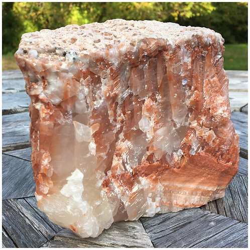 Tri-Colored Calcite Specimen 001