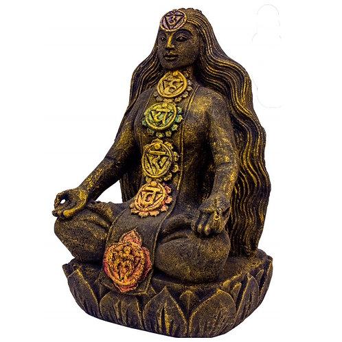 Chakra Goddess Volcanic Rock Statue