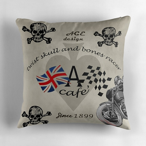 Twist Skull & Bones Racer Pillow