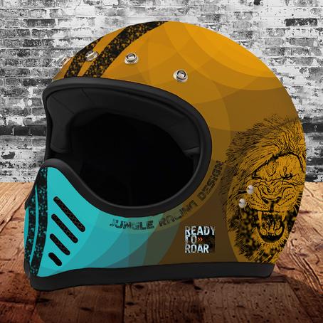 Jungle Racing Design: Ready to Roar Helm