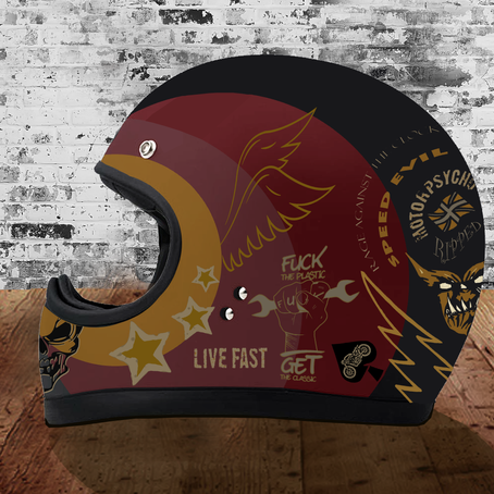 Speed Demon Design: Live Fast Helmet