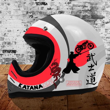Katana Art Design: Warrior Helmet