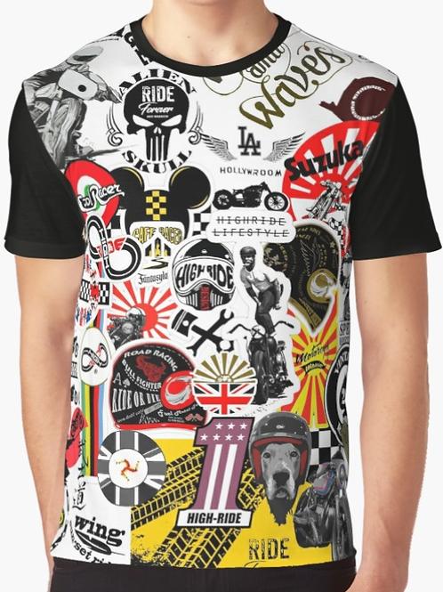 Sticker bombing Racing Graphic T-Shirt