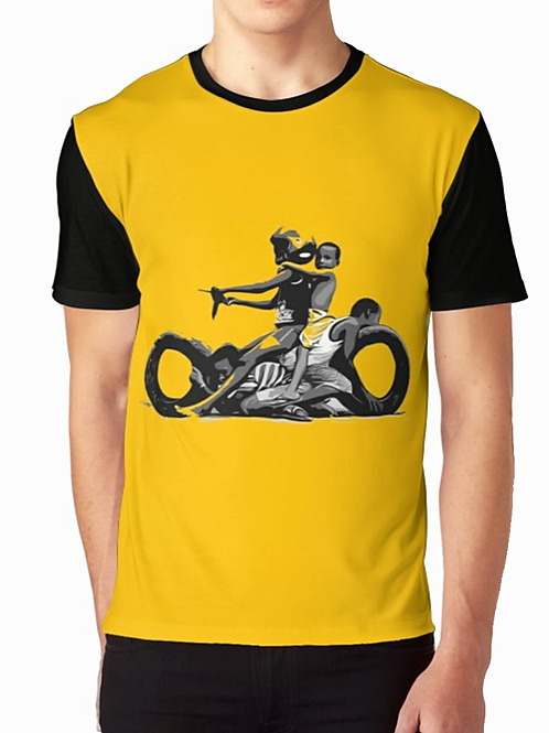 Kids Motorcycle Fun Graphic T