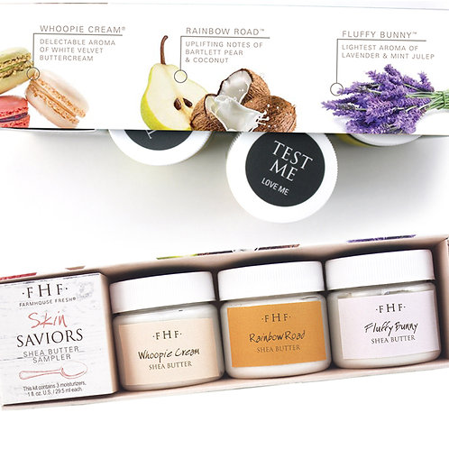 Skin Saviors- 3 piece Shea Butter Sampler