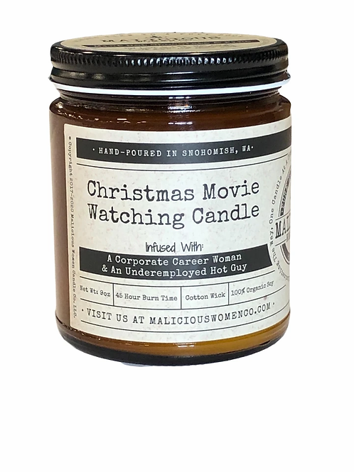 Christmas Movie Watching Candle