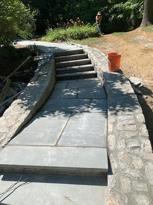 New sidewalk paveway - masonry work