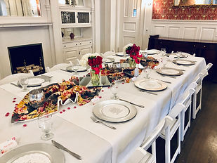 close up of table for Eitquette luncheon