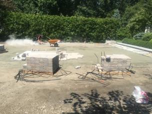 New Patio paving project - masonry