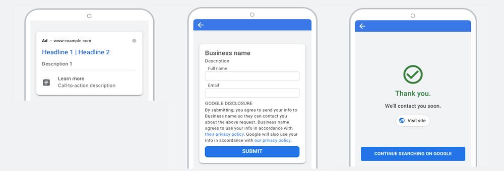 Google - Lead Form Extension