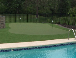 Pool Side Putting Green