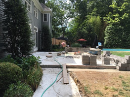 Stone Wall Masonry - New Patio Project