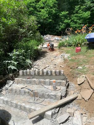 New Entry paved sidewalk - masonry