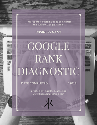 google rank diagnostic report