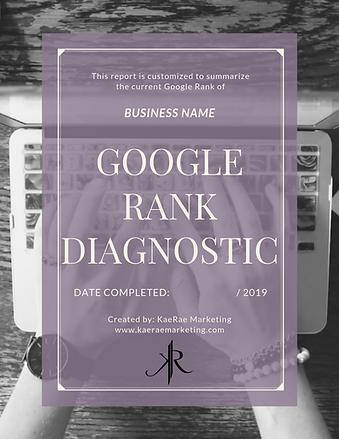 google rank diagnostic report