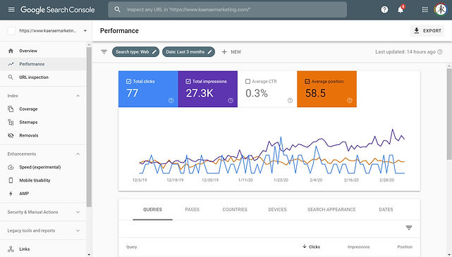 Google Search Console - KaeRae Marketing